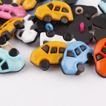 100 pcs  25*16mm Mixed color plastic black Cars Buttons DIY  Decoration