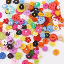 50PCS Mixed Color  Plastic Cartoons  Buttons