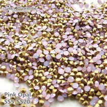 SS5-SS20 Pink Opal  Point Back Rhinestones