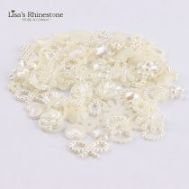 New Ivory Color Half Round bead Mix Sizes and Shape imitation ABS Flat back Pearl for DIY Nail Art or  jewelry Accessory