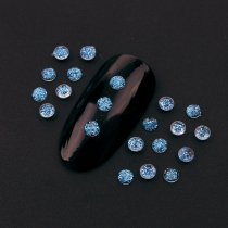 495Pcs/Pack 3mm  Resin Round Shiny Glitter Transparent Rhinestone