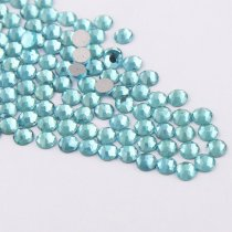 All Sizes Blue Zircon Color Nail Art Rhinestones Flatback Non HotFix Rhinestone Crystal Loose Strass For Nails DIY