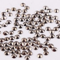 All Sizes Hematite Color Nail Art Rhinestones Flatback Non HotFix Rhinestone Crystal Loose Strass For Nails DIY