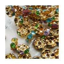 Top quality copper rhinestone beads  spacer-beads 4*10mm  5000pcs