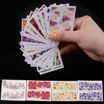 50Sheets  51*64mm Water Transfer Nail Sticker Different Colorful