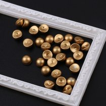 About30pcs 6mm ABS Radian Imitation Pearls  Shiny DIY 3D Steamed Bread Nail Art