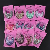 About20g   3mm/4mm/5mm/6mmMix Size Gradient Mermaids Colorful Imitation Pearls