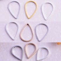 Copper Charm 16*11mm,10*5.5mm thiness1mm 100 pcs