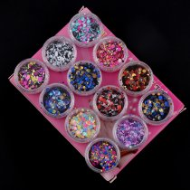 12Pcs/set Round Nail Glitter Ultrathin Laser Sequins Nails