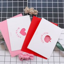 wholesale Vintage Hollow Mix Kraft Paper Greeting Postcards Wishes Envelope For DIY Festival Greet Cards Gift Stationery School Supplies