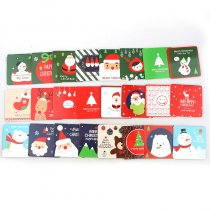 Santa Claus Merry Christmas Tree Paper Greeting Postcards