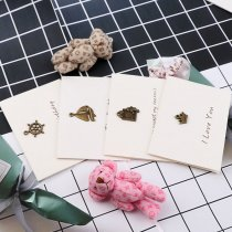 wholesale Vintage Antique Bronze Retro Greeting Paper Postcards Wishes&Envelope DIY Festival Greet Cards Gift Stationery School Supplies