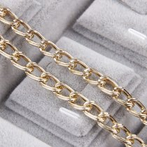 1 Meter 2.0x6.7x11.2mm Metal Rose Gold Straight Textured Cable Necklace Twisted Curb Chains