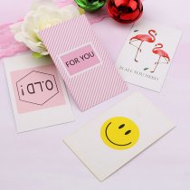 Creative Mixed types Double Pictures Christmas Birthday Paper Gift Tags Labels Cards
