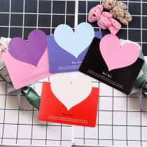 Luggage Tags Love Heart Kraft Paper Greeting Postcards