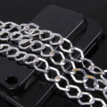 wholesale 1 Meter 1.5x2.8x14.4x19.2mm Silver Rhombus Necklace Chain Twisted Curb Chains Bulk Fit Bracelets Open Link Chain DIY Jewelry Making