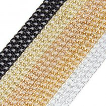 wholesale 5 Meters Aluminum Metal Mixed Color 0.8x3x4.6mm Necklace Twisted Curb Chains Bulk Fit Bracelets Open Link Chain DIY Jewelry Making