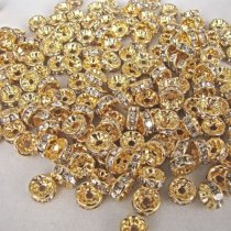 Top quality copper rhinestone beads  spacer-beads 4*8mm 1000pcs