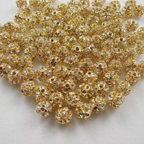 Top quality copper rhinestone beads  spacer-beadsル 6mm  500pcs
