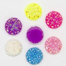 10x10mm Mixed AB Color Round Babys breath  Resin  DIY Accessory