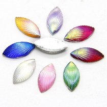 40pcs 5x11mm Mixed Horse Eye Shell Line DIY Flatback Scrapbooking