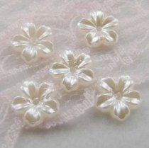 2000Pcs  9*9mm ABS  Five Flowers  Pearl Cobochon