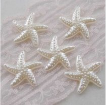 1000Pcs  20*20mm ABS Starfish  Pearl Cobochon