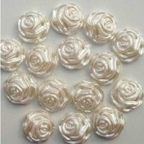 1000Pcs  9*9mm ABS Semicircular White Flowers  Pearl Cobochon