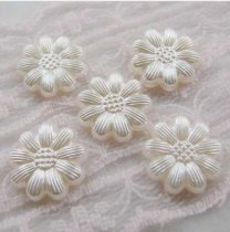 1000Pcs  13*13mm ABS Nine Petals  Pearl Cobochon