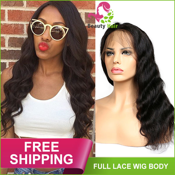 45a00d061 9A Body Wave Brazilian Full Lace Human Hair Wigs With Baby Hair Remy Hair  Pre Plucked Glueless Lace Wigs