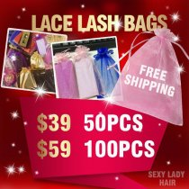 Lace bags for eyelashes