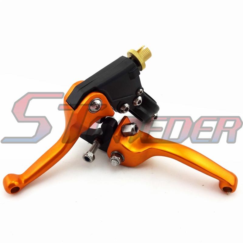 Gold Folding Brake Clutch Lever For SDG DHZ Thumpstar SSR TTR Chinese Pit  Dirt Bike 50cc 70cc 90cc 110cc 125cc 150cc 160cc