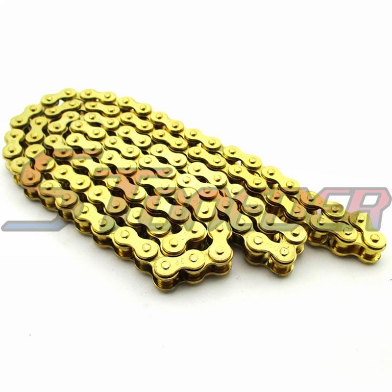 Gold 420 Chain 104 Links For Chinese 110cc 125cc Engine Pit Dirt Motor  Trail Bike ATV Quad 4 Wheeler Motorcycle Rocket Sunl Taotao Kazuma  Motorcycle