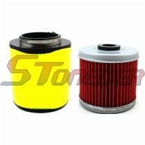 68mm Air Filter Cleaner + Oil Filter For Honda Fourtrax 300 TRX300 2x4 TRX300FW 4x4 1993 1994 19995 1996 1997 1998 1999 2000