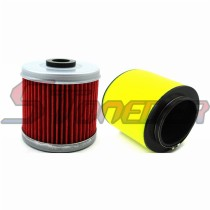 88mm Air Filter + Oil Filter Cleaner For Honda TRX400EX Sportrax 1999 2000 2001 2002 2003 2004 2005 2006 2007 2008