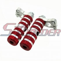 STONEDER Aluminum Red Racing Footpegs Foot Rest Pegs For Most Chinese 2 Stroke 47cc 49cc Mini Pocket Bike MTA1 MTA2