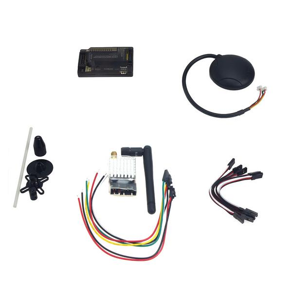 APM2 8 ArduPilot Flight Control with Compass,6M GPS,GPS Folding Antenna,  5 8G 250mW TX for DIY FPV RC Drone Multicopter