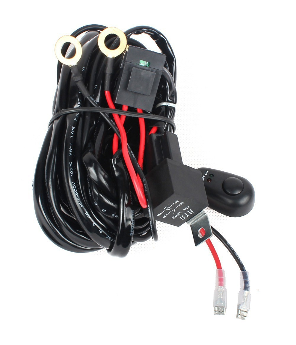 US$ 7.57 - Lights Maker Off Road LED HID Fog Work Driving Spotlights Off Road Lights Wiring No Relay With Switch And on
