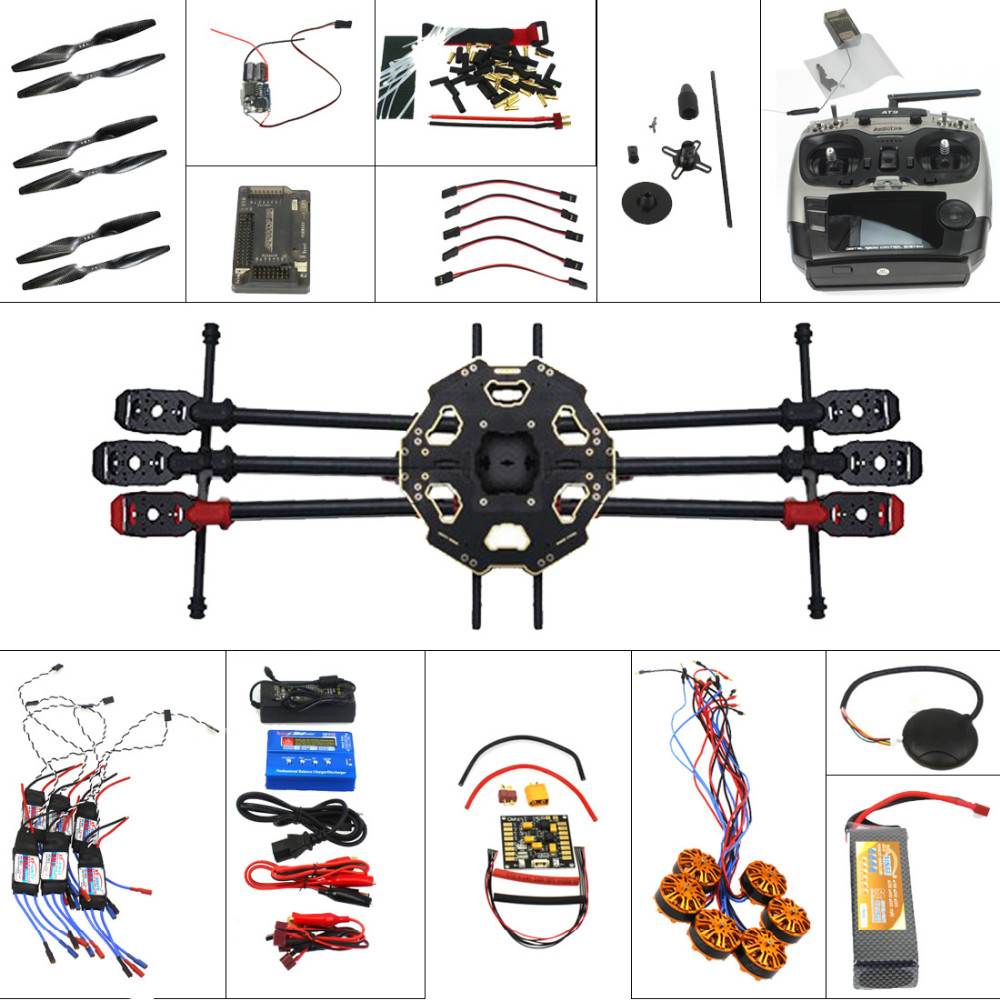 Aircraft Kit Full Set Helicopter Drone Tarot 680PRO Frame 700KV Motor GPS  APM 2 8 Flight Control AT9 Transmitter