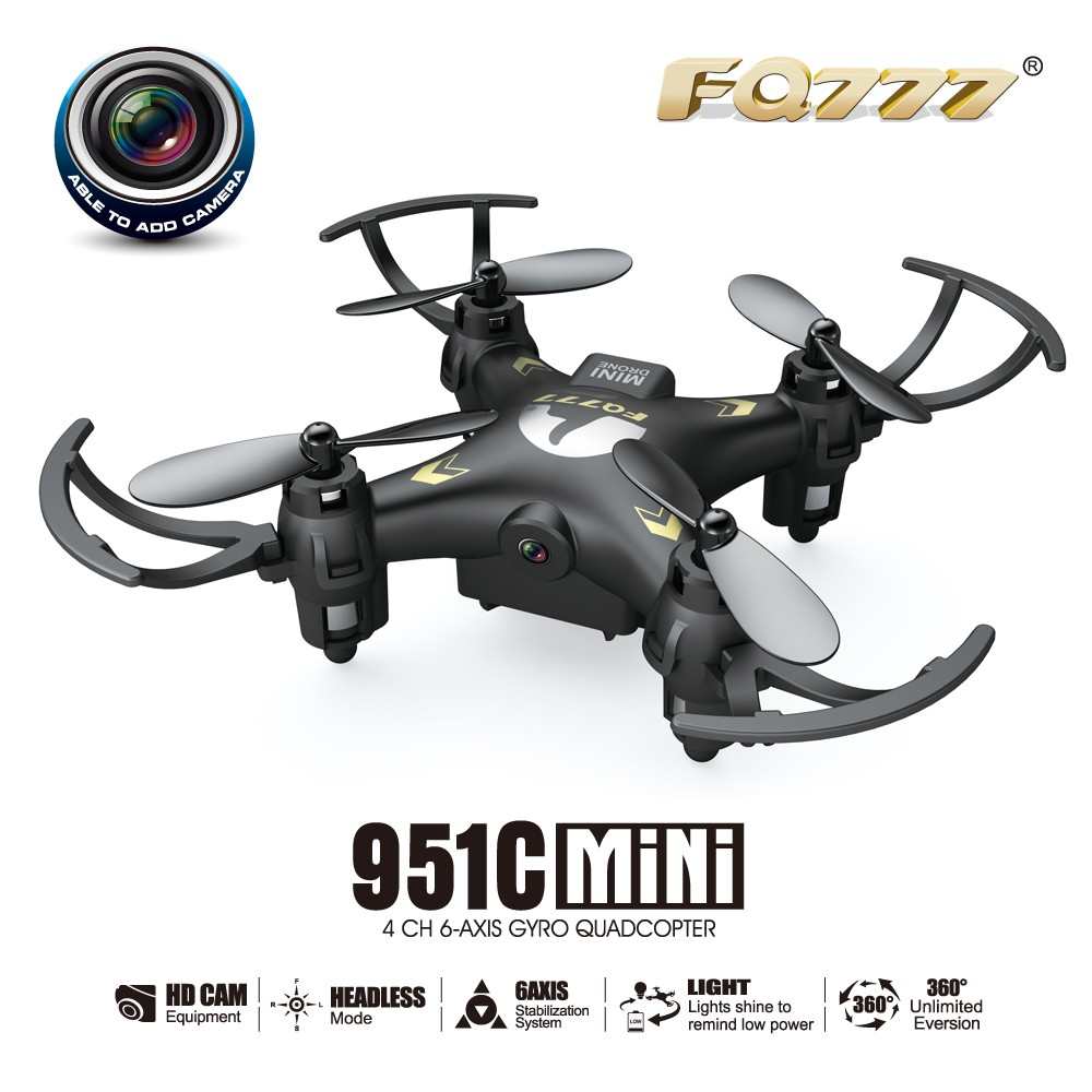 FQ777-951C MINI With 0 3MP Camera Headless Mode 2 4G 4CH 6 Axis RC  Quadcopter RTF Support SD card