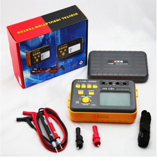 New Victor VC60B+ Digital Insulation Resistance Tester Megger MegOhm Meter  DC250/500/1000V AC750V 0 1~2000M