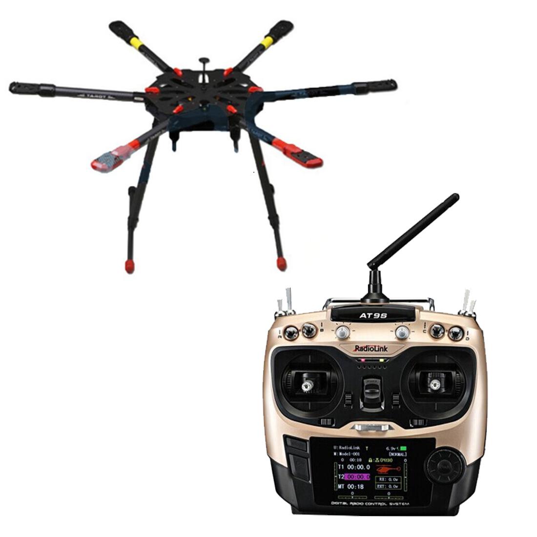 Full Set Hexacopter GPS Drone Aircraft Kit Tarot X6 6-Axis TL6X001 PX4 32  Bits Flight Controller Radiolink AT9S TX&RX