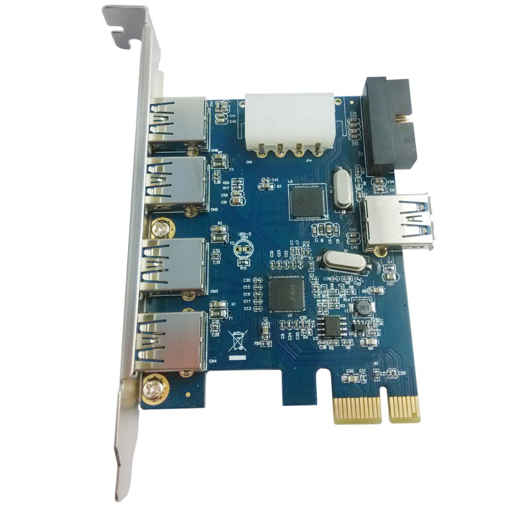 Us 1039 Xt Xinte 20 Pin Expansion Card Pci E 4 Port Usb 30 1 For Desktop Ltu37p