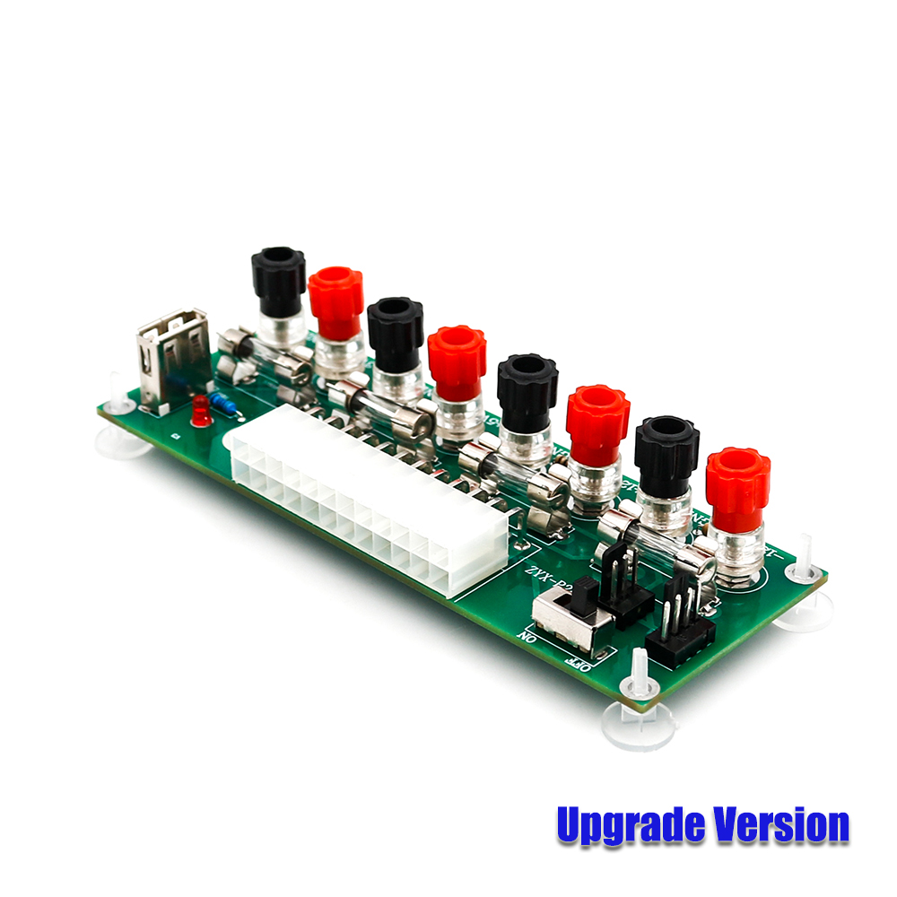 Us 569 New Atx 20 24 Pins 24pin Benchtop Board Computer Pc Power Mini Pin Wiring Diagram Supply Breakout Module Adapter Usb 5v Port W Switch Accessories
