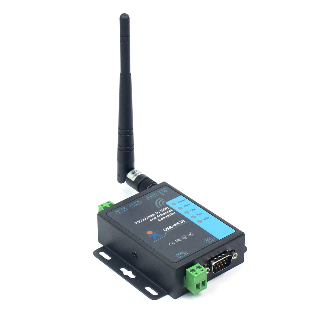 RS232 RS485 Serial To WiFi and Ethernet Converte USR-W610 Support TCP Server//TCP