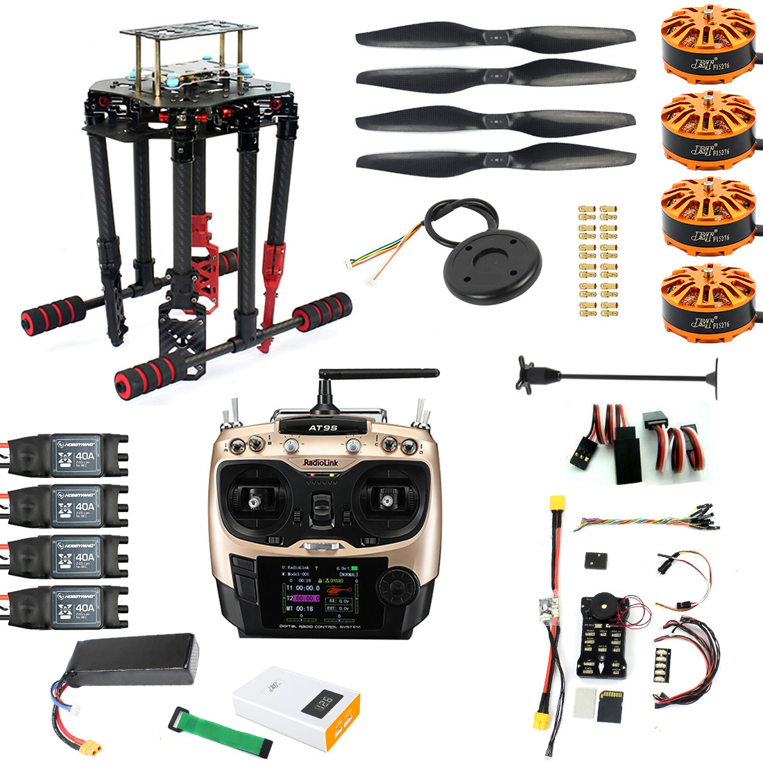 DIY GPS Drone 2 4Ghz AT9S X4 560mm Umbrella Foldable FPV Quadcopter 4-Axis  ARF PIXHAWK Flight Control Unassemble