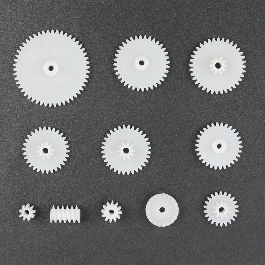 11 Types Plastic Motor Gear Modulus 0 5 Science Gear DIY Model Toy  Accessories for 2mm Shaft