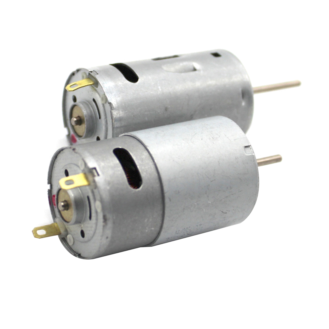 Feichao Long Axis 390 Motor High Speed Magnetic Carbon Brush DC Motor High  Torque 6V 12V DIY Micro Drill Motor 2PCS