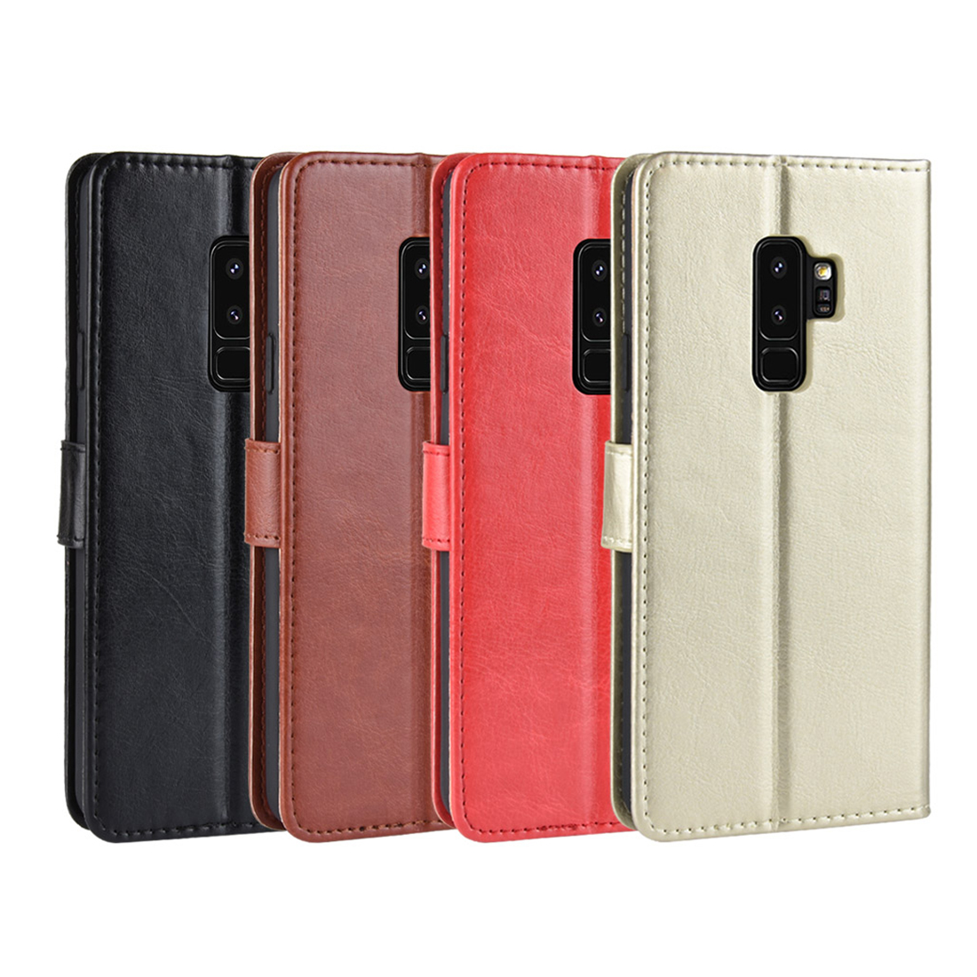 huge discount e098e a69ca Mobile Phone Case Flip Phone Card Protection Leather Case for Samsung  Galaxy S9/ S9 Plus