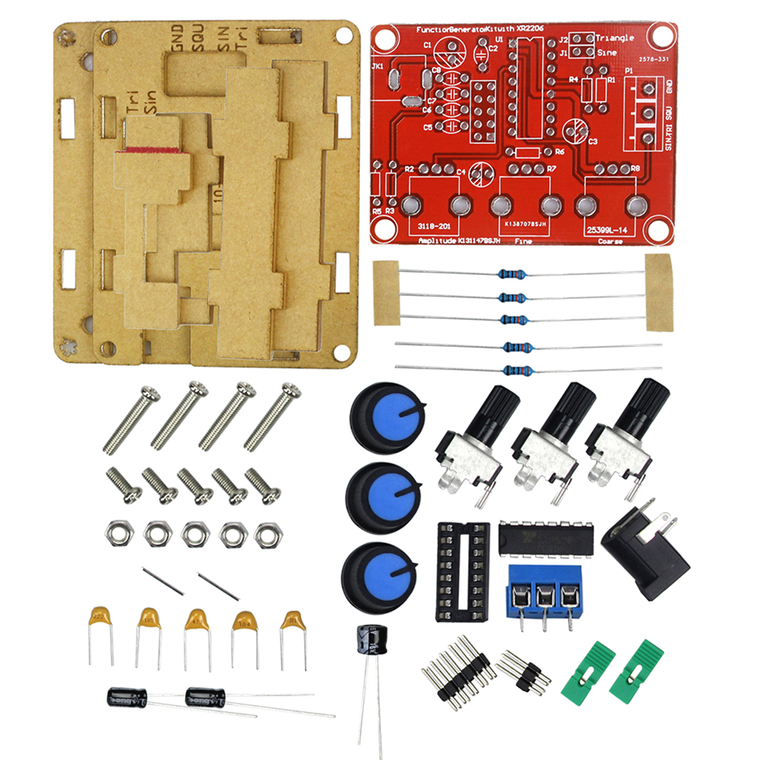 Feichao XR2206 Function Signal Generator DIY Kit Sine Triangle Square Wave  1HZ-1MHZ DDS with Manual